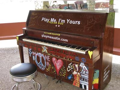 street piano Fannie Davis Gazebo