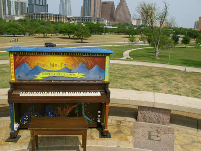 street piano Doug Sahm Hill